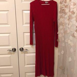 ASOS Midi dress with pleated wide rib